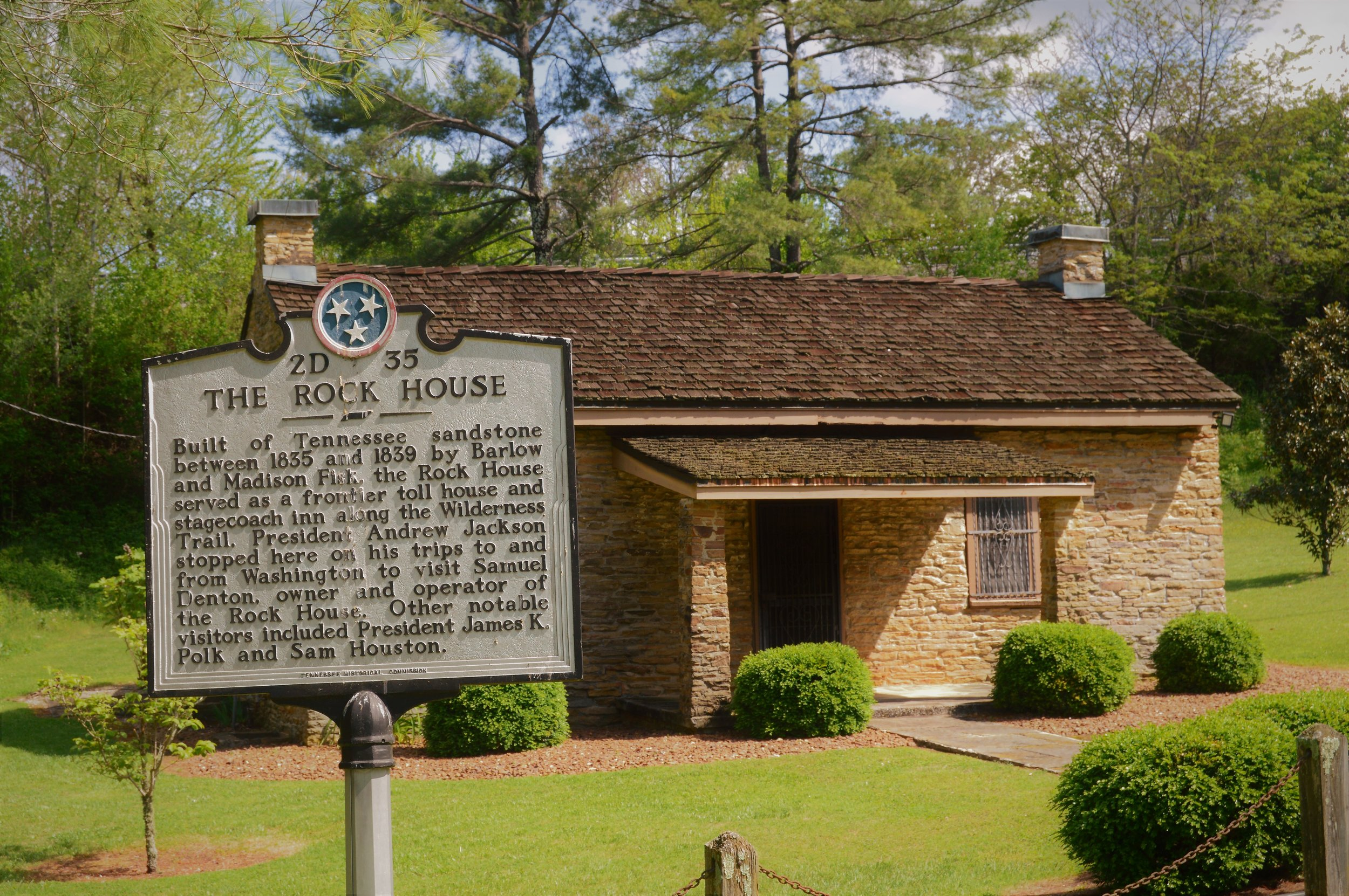 The Rock House near Sparta, Tennessee has been around for nearly 200 years.