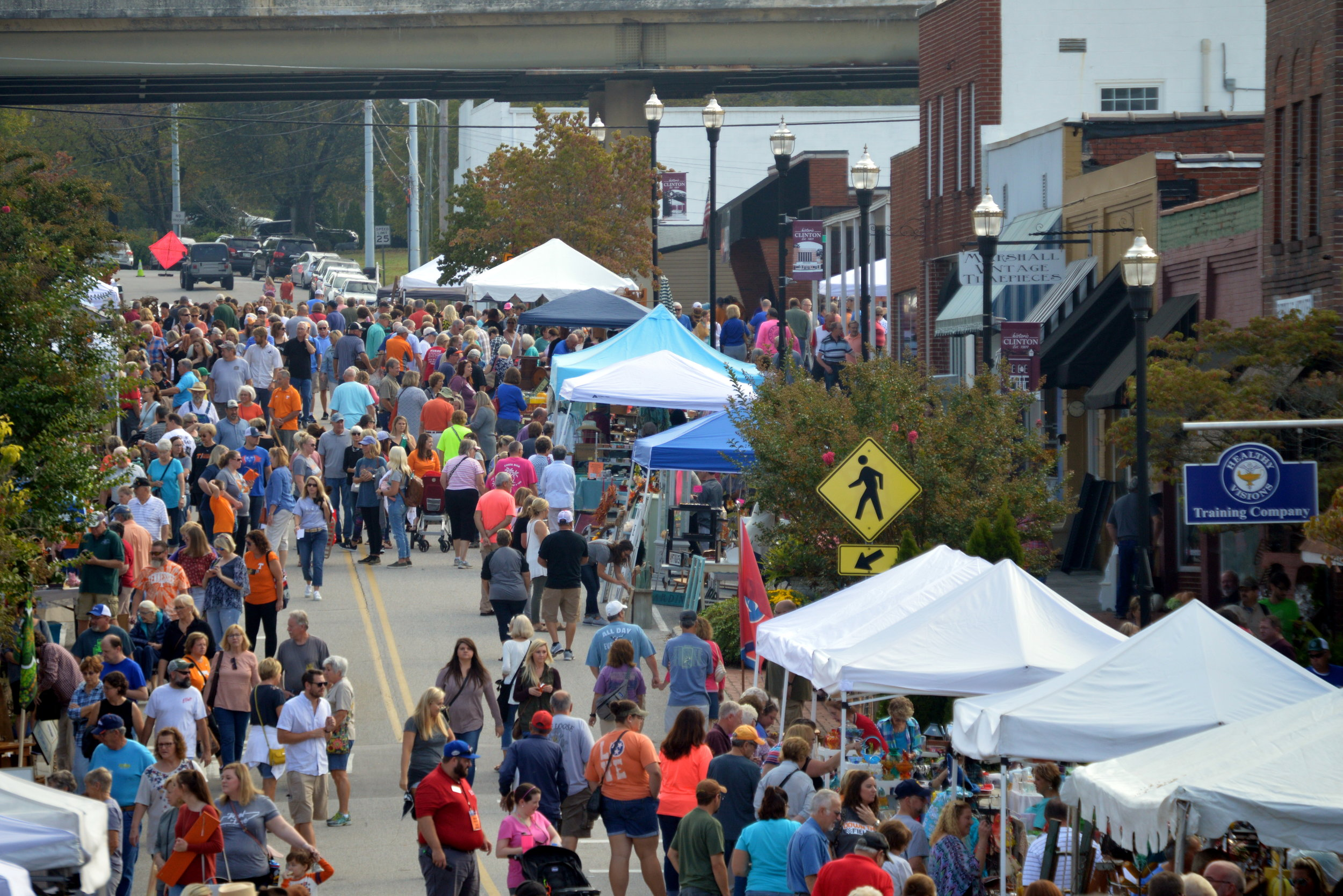 In the Spring and Fall thousands of people flock to downtown Clinton for the Clinch River Antiques Festival.