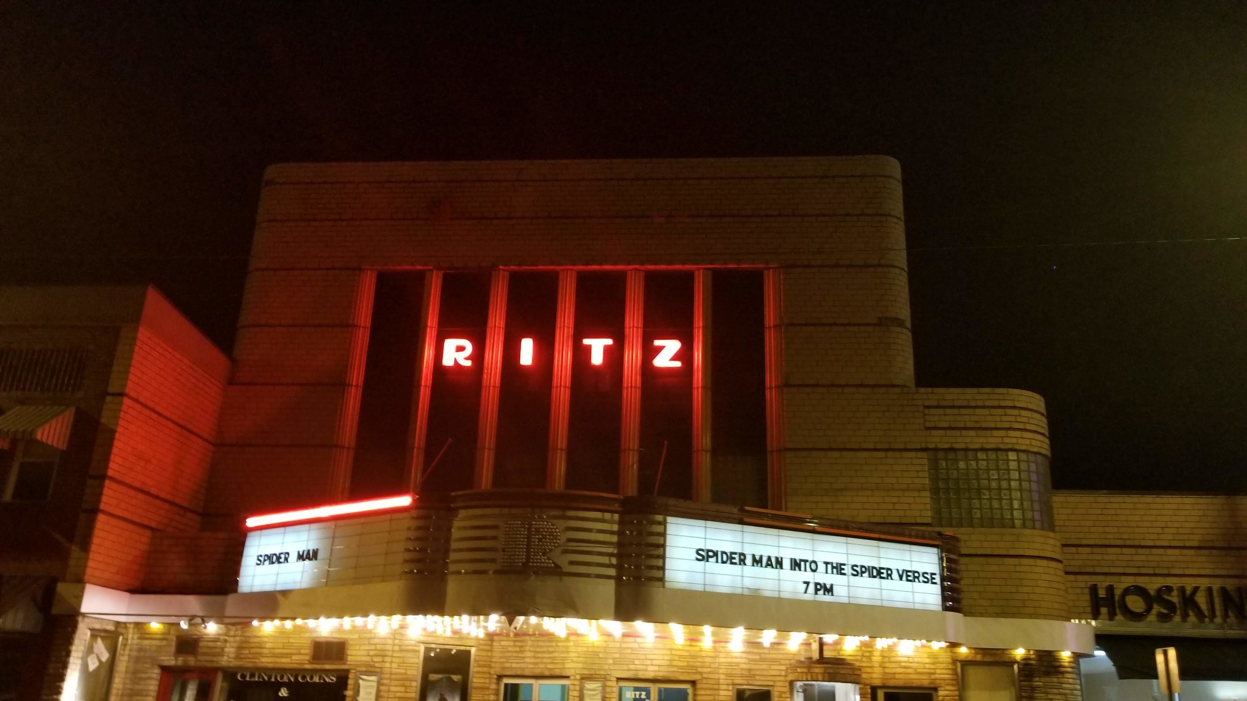 The Ritz is an Art Deco theater located on Main Street in Clinton, Tennessee.