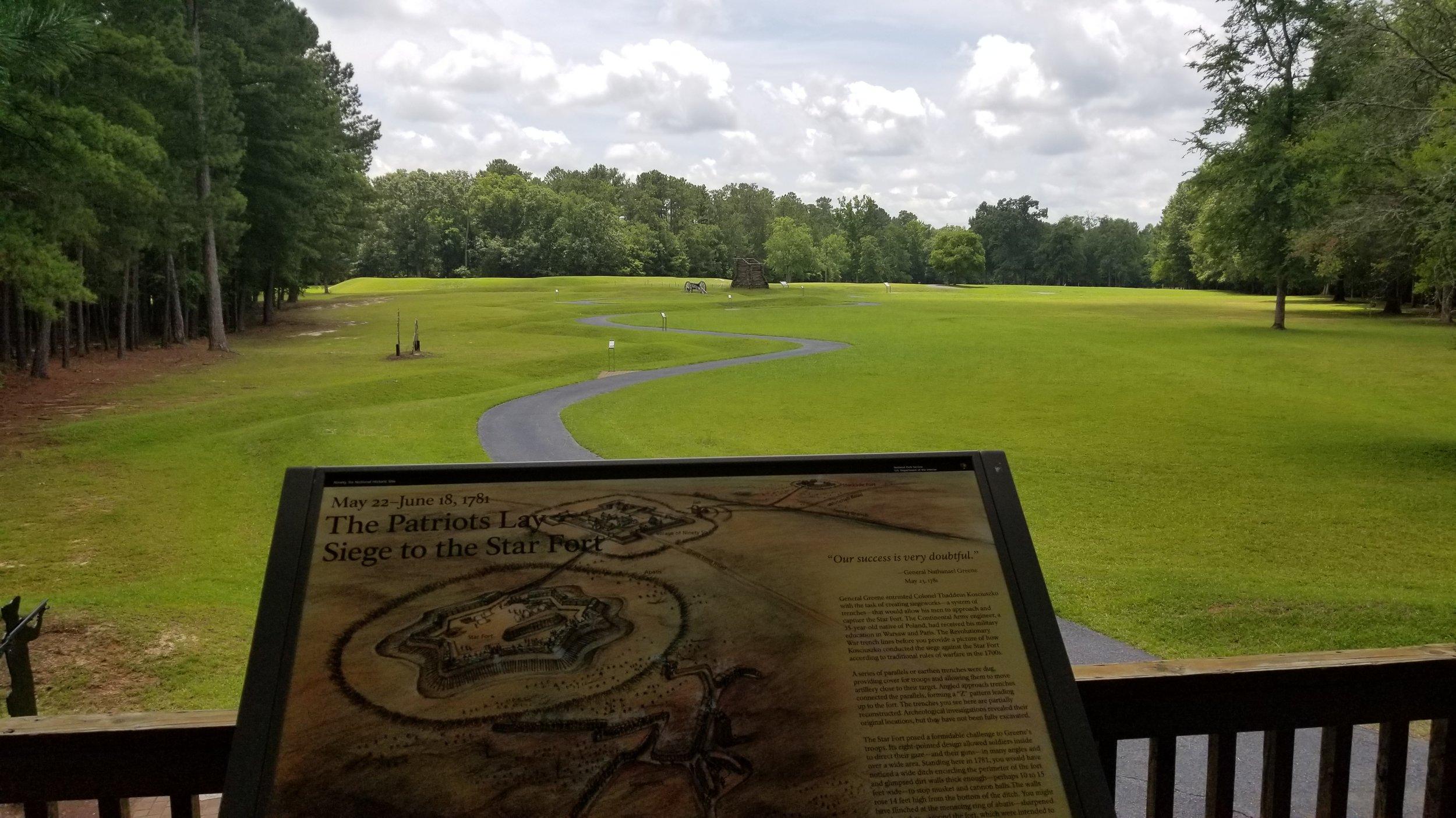 Battlefield overlook at Ninety-Six