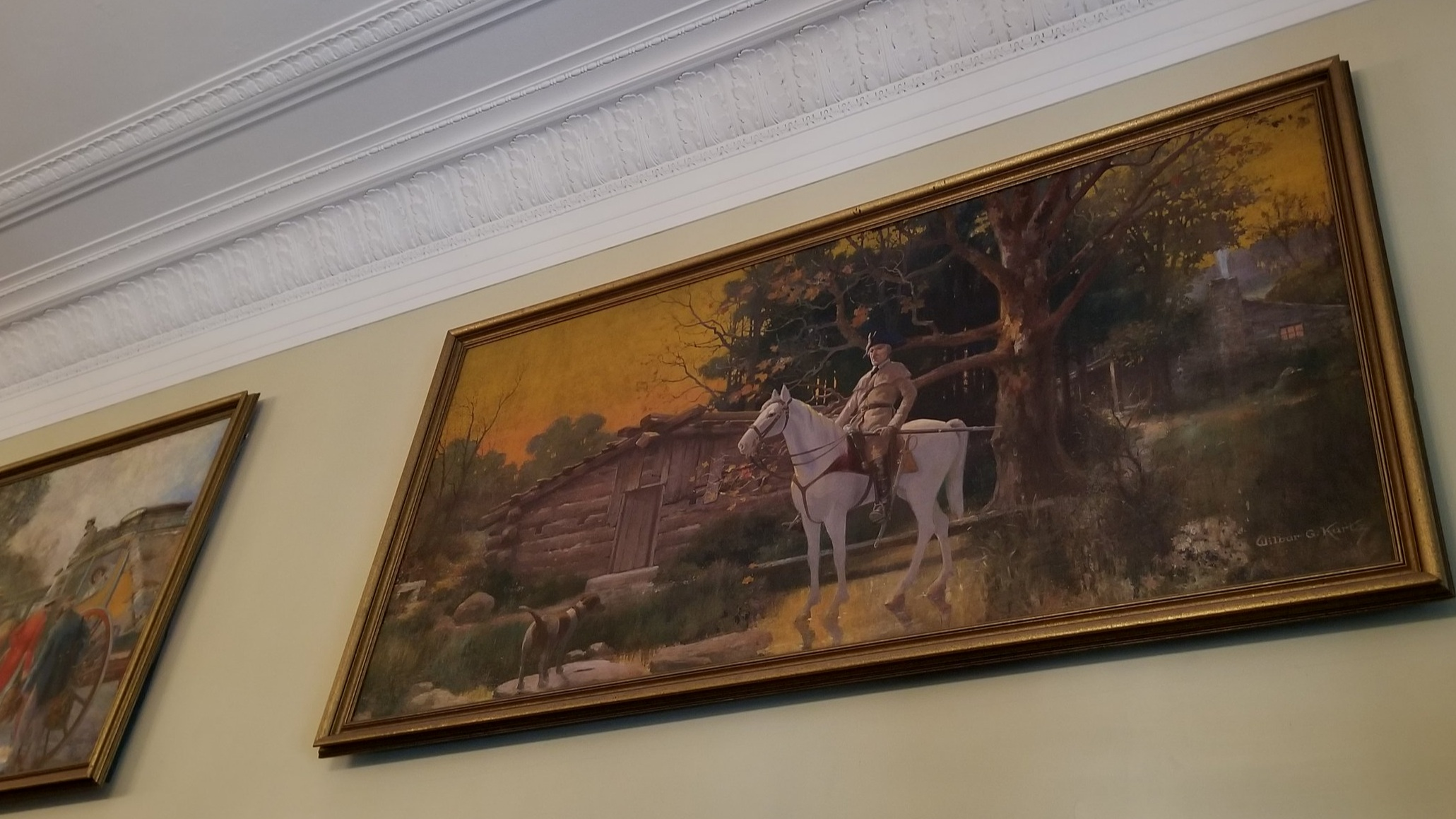 The Visitors Center for Abbeville is located in an old bank and features a collection of large paintings depicting 100 years of the town's history.