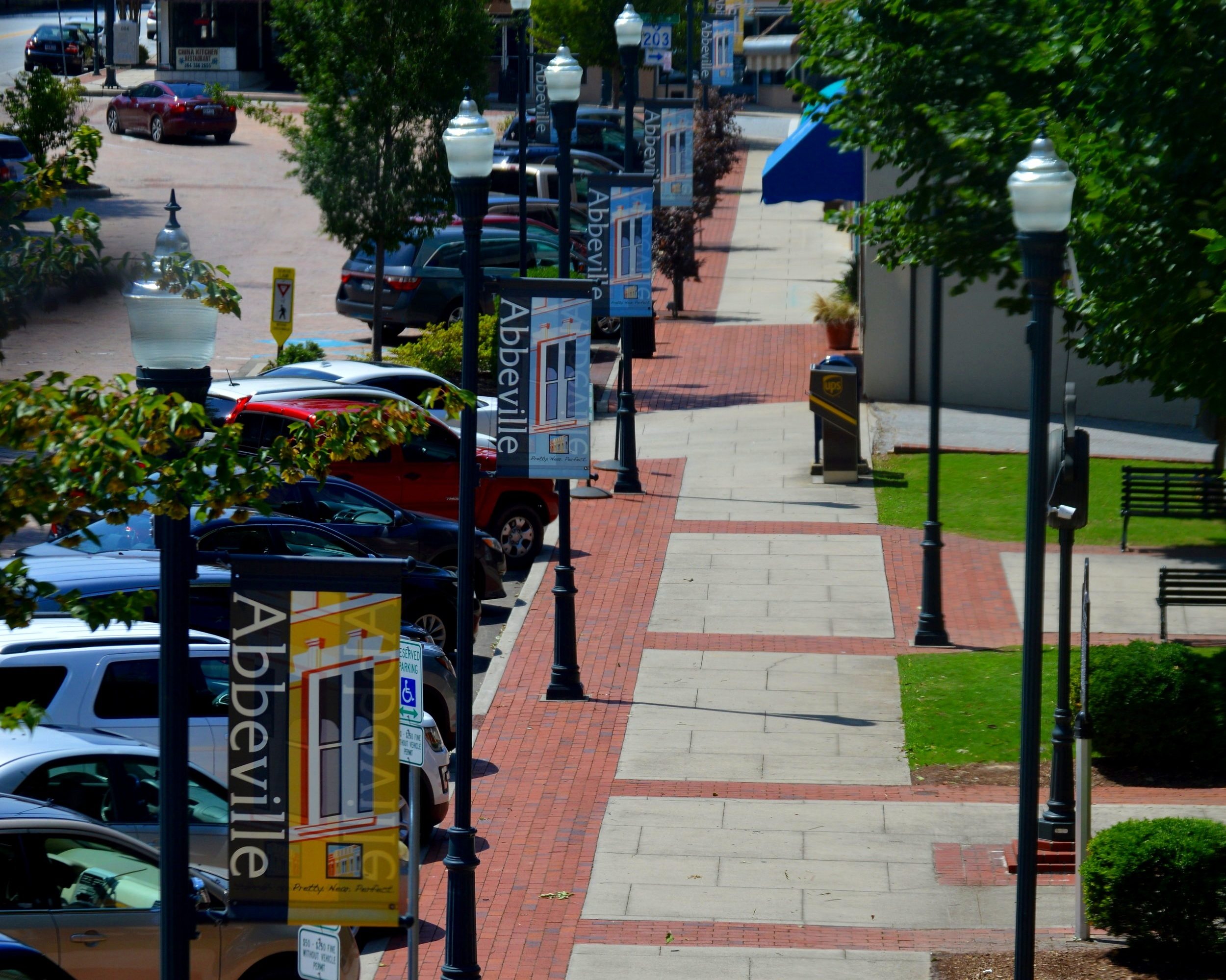 The view from the second floor of Urban 2 Country provides you with one of the best views of the Abbeville square.