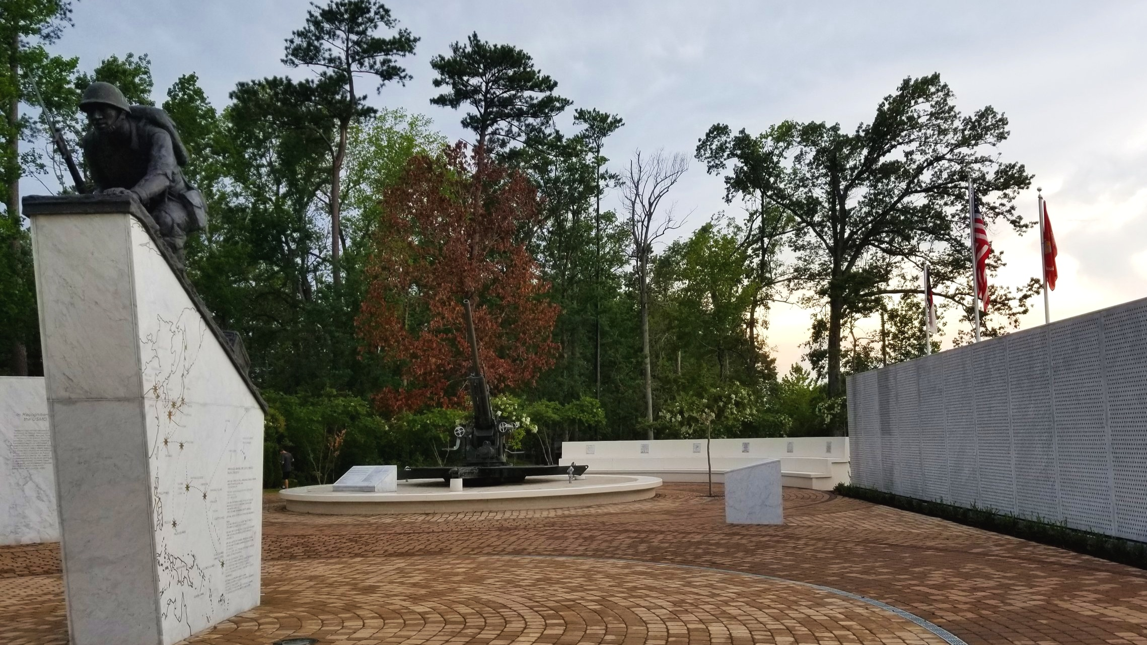 The Montford Point Marine Memorial tells the story of the first African-Americans enlisted as U.S. Marines.