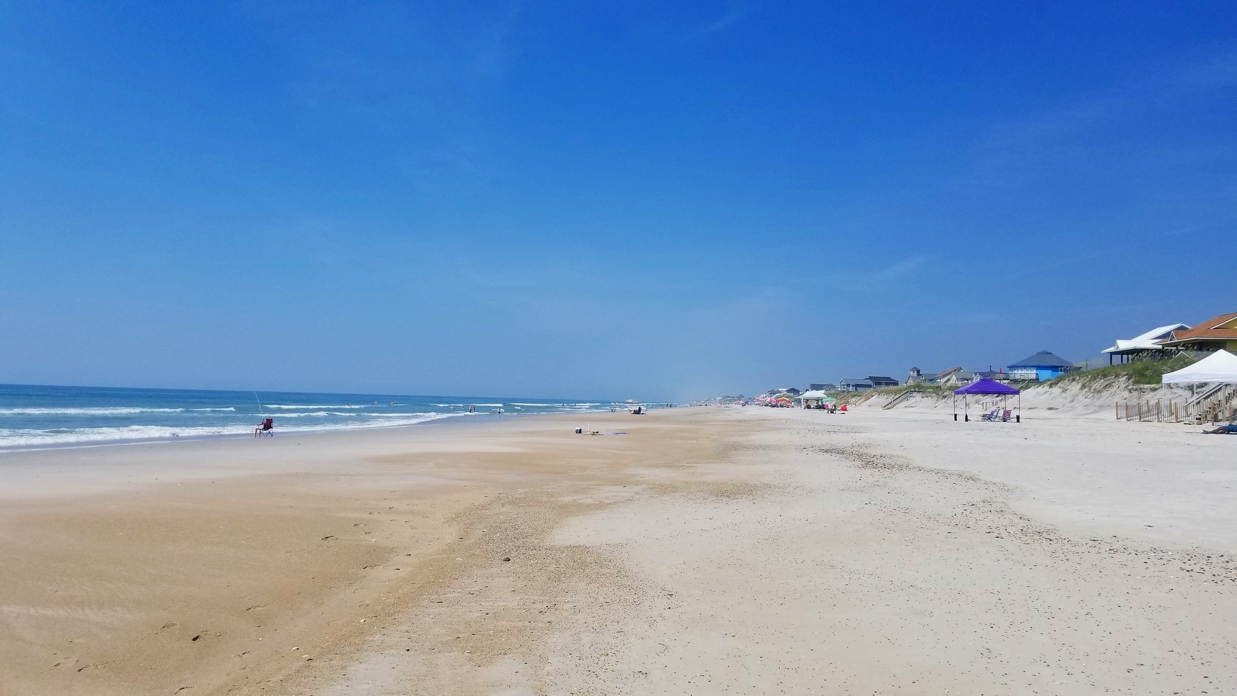 North Topsail Beach near Jacksonville, NC provides great public access to the Atlantic Ocean.