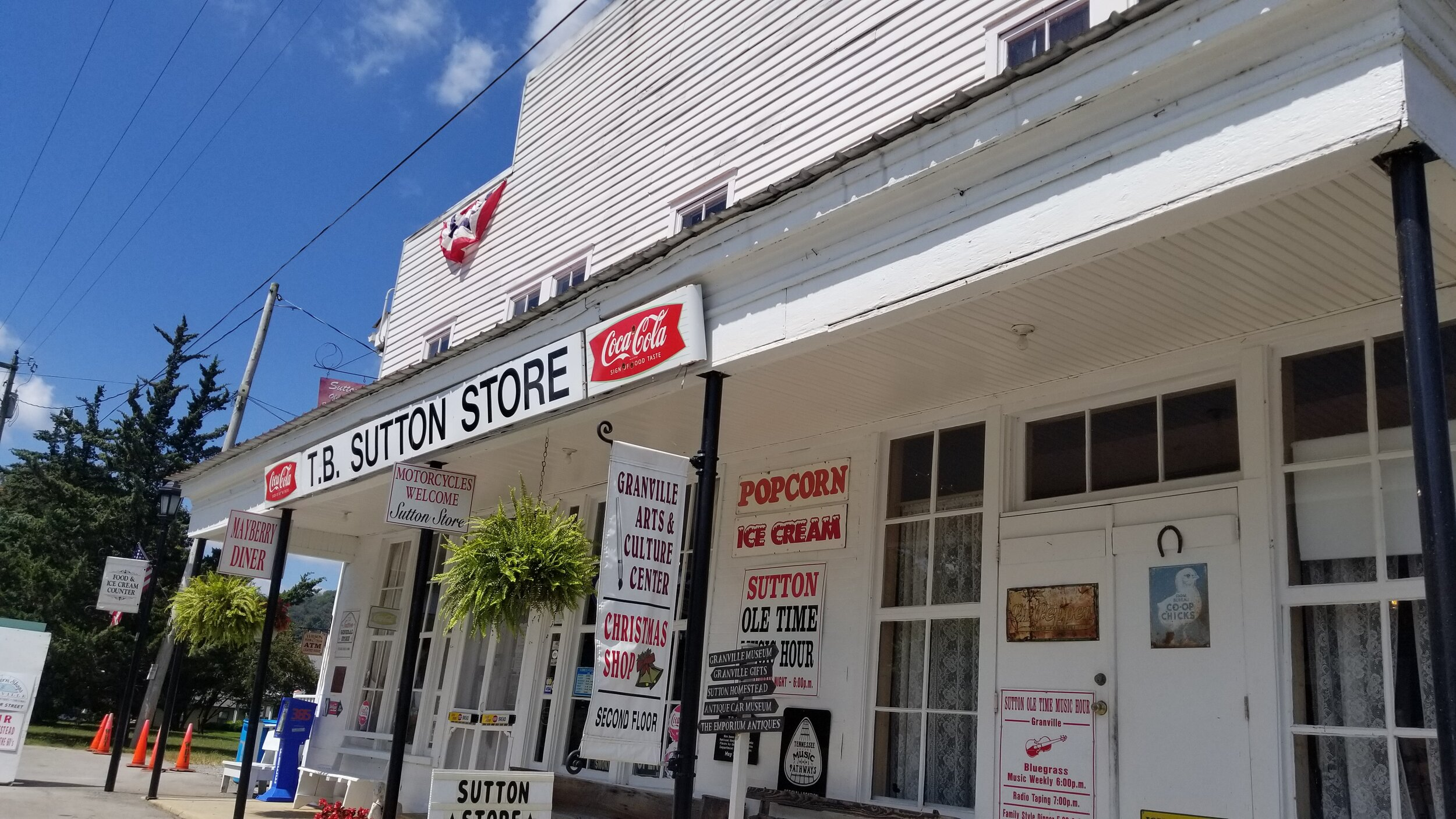 The T.B. Sutton Store in Granville, TN is the main attraction in this small town on the banks of the Cumberland River (Cordell Hull Lake).