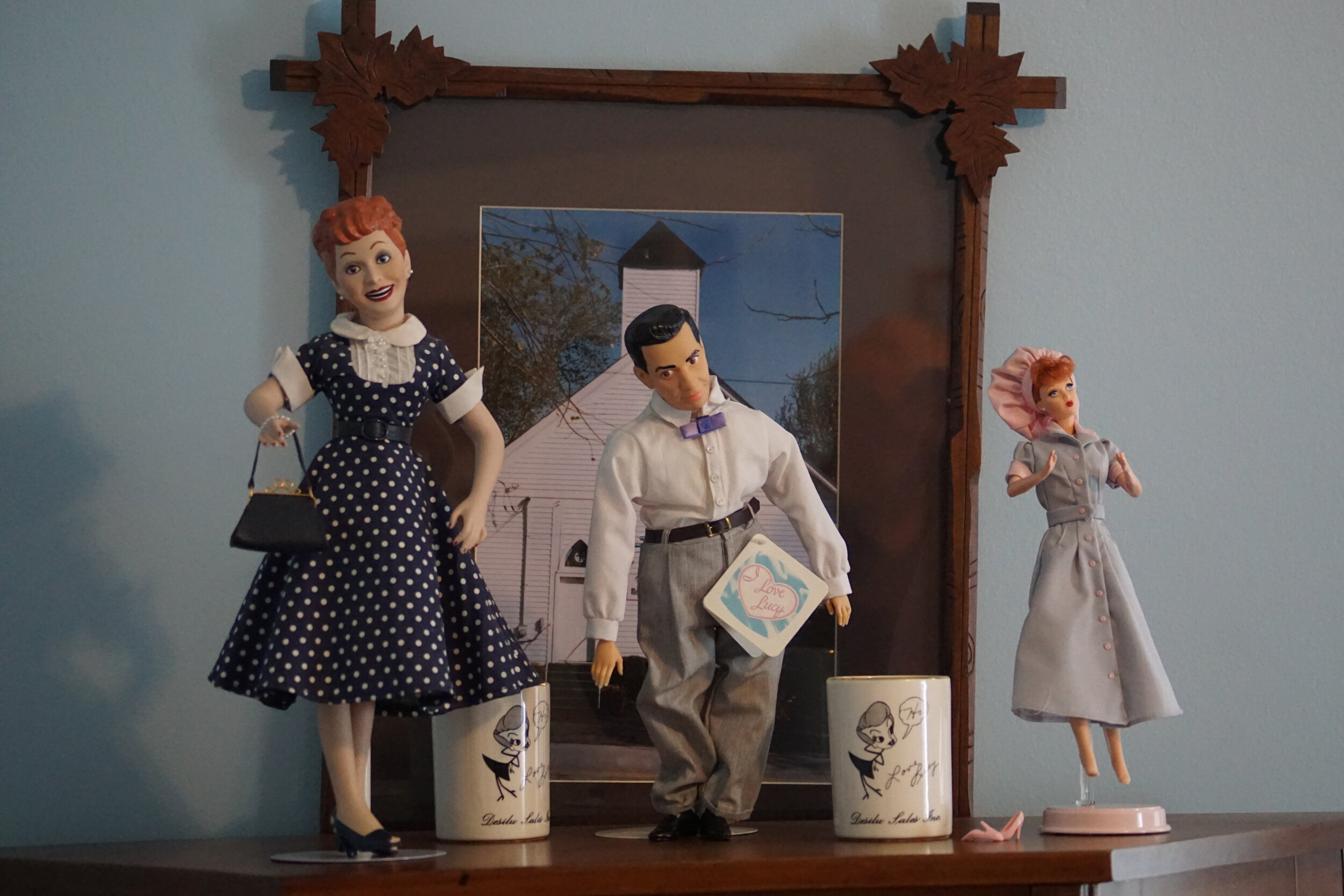 """Memorabilia from """"I Love Lucy"""" adorns many spaces throughout Granville. All the pieces are part of one family's personal collection."""