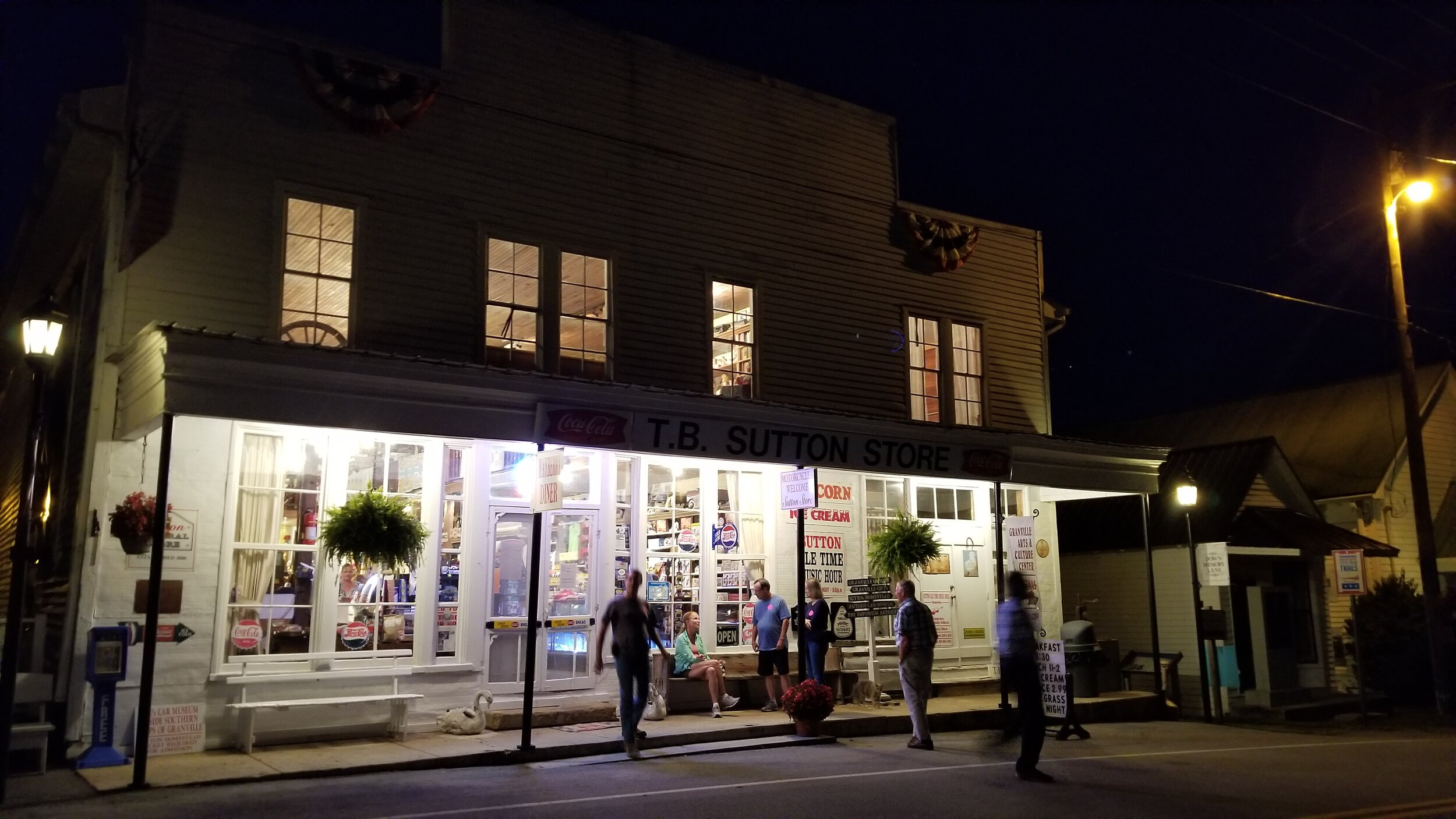 On a Saturday night the T.B. Sutton Store is THE hub of activity in Granville, TN.