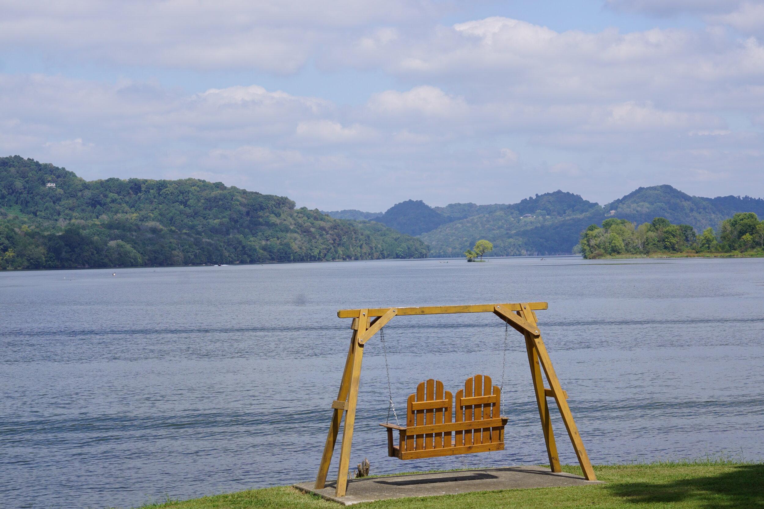 Veterans Park in Granville provides great views of Cordell Hull Lake (Cumberland River).