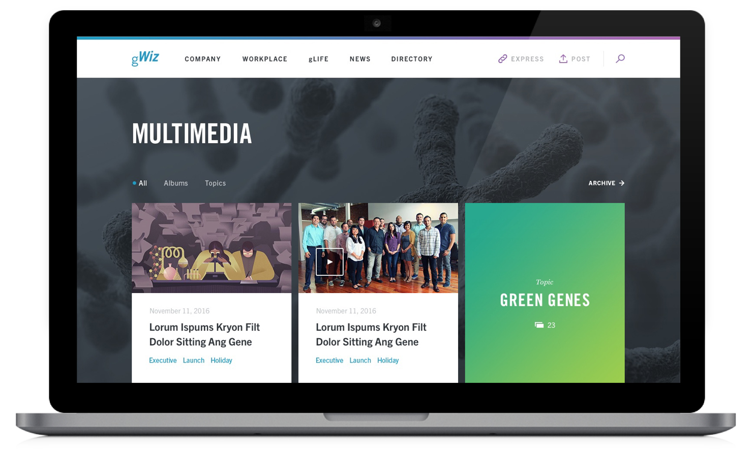 Genentech Intranet Redesign - Unifying and streamlining an all-inclusive intranet.
