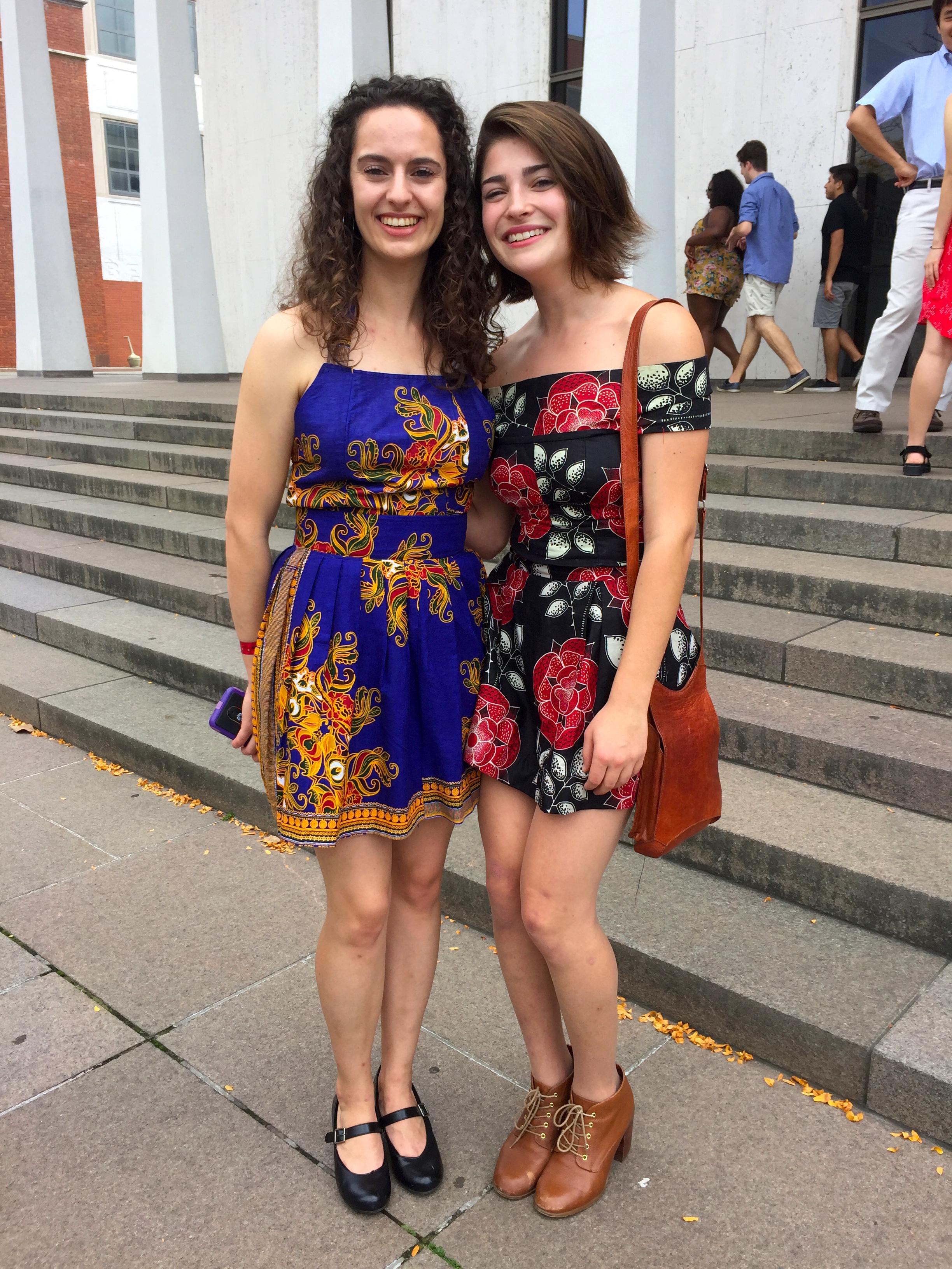 Left: Miranda Bolef 2019  Right: Naomi Shifrin 2021