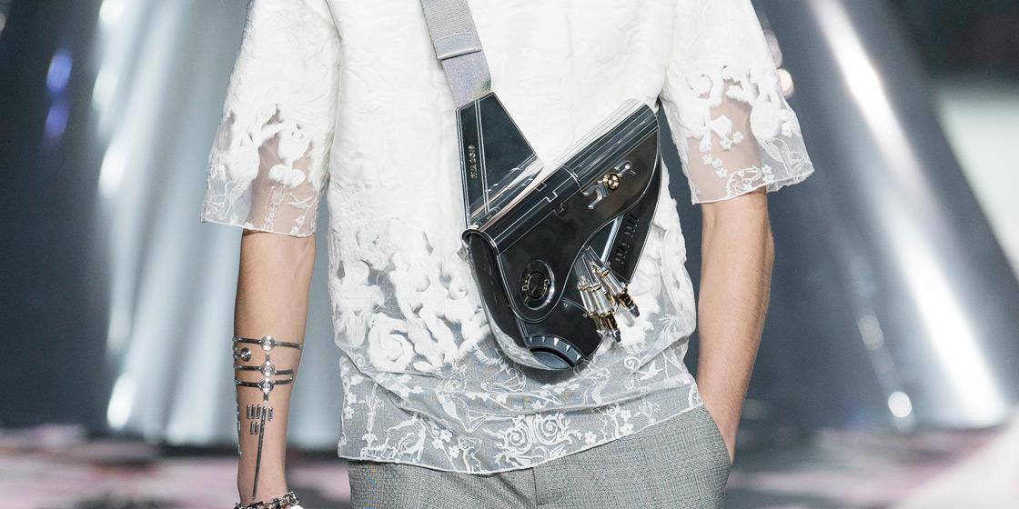 Dior x Sorayama Saddle Bag