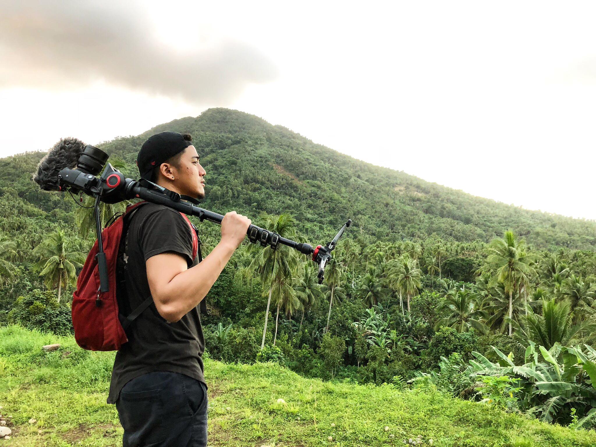 Filming in Quezon, Philippines for Infanta Lambanog