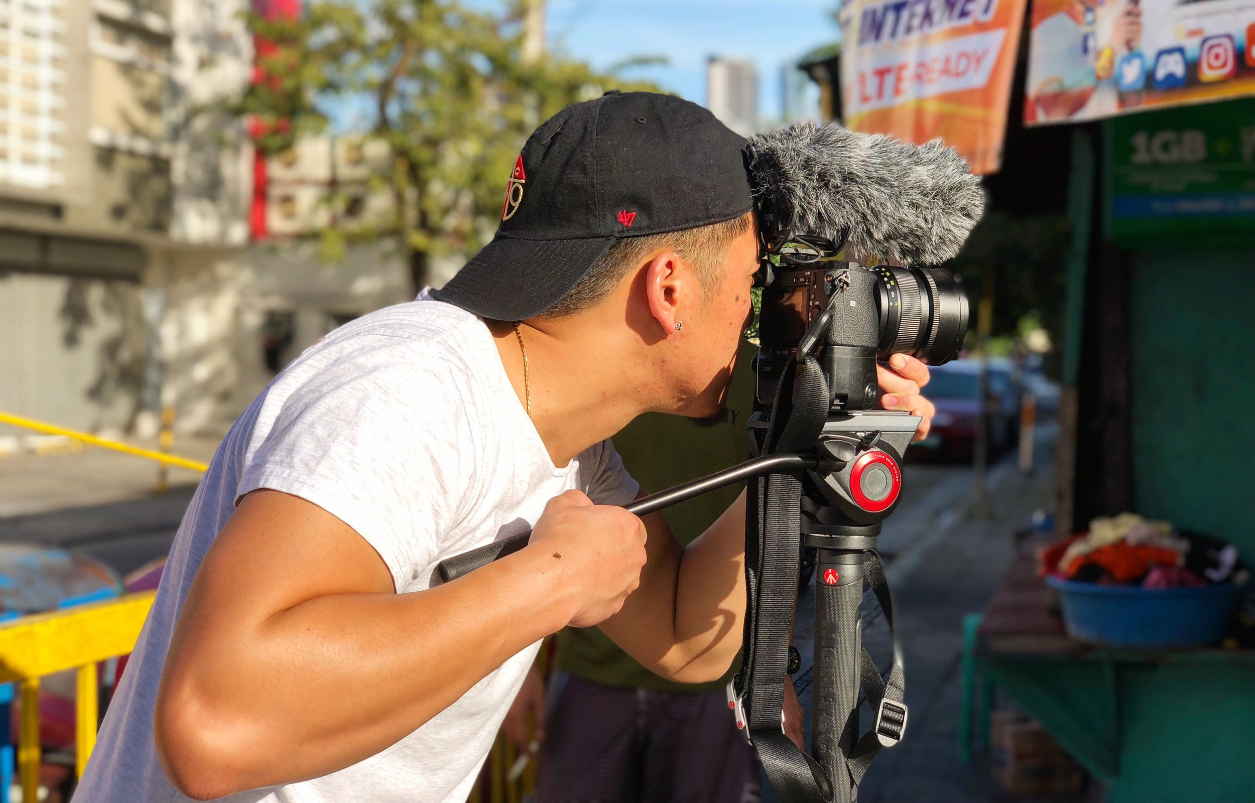 Filming in the streets of Makati, Philippines for Infanta Lambanog