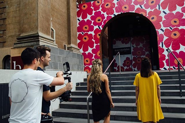 We're ready for more shoots and more behind the scenes photos in 2019. Here's to more regular updates!  BTS shot from filming at @bendigoartgallery last year for the Marimekko: Design Icon Exhibition TVC.