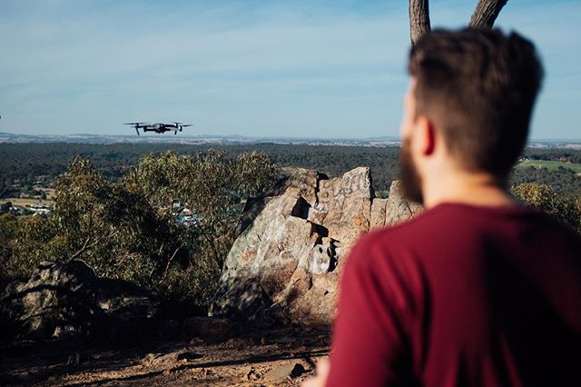 Sending the little drone up on a mission for great aerial footage. It delivered the goods. 📸 @cam.shand