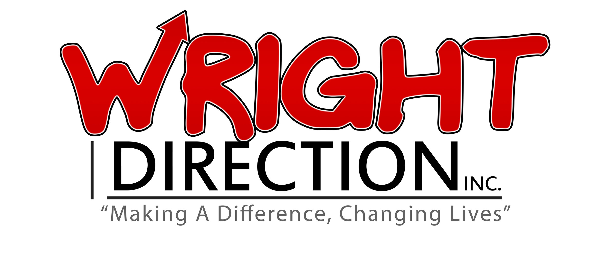 Logo - Wright Direction Inc Concept 3 with Arrow slant up ne slogan.jpg