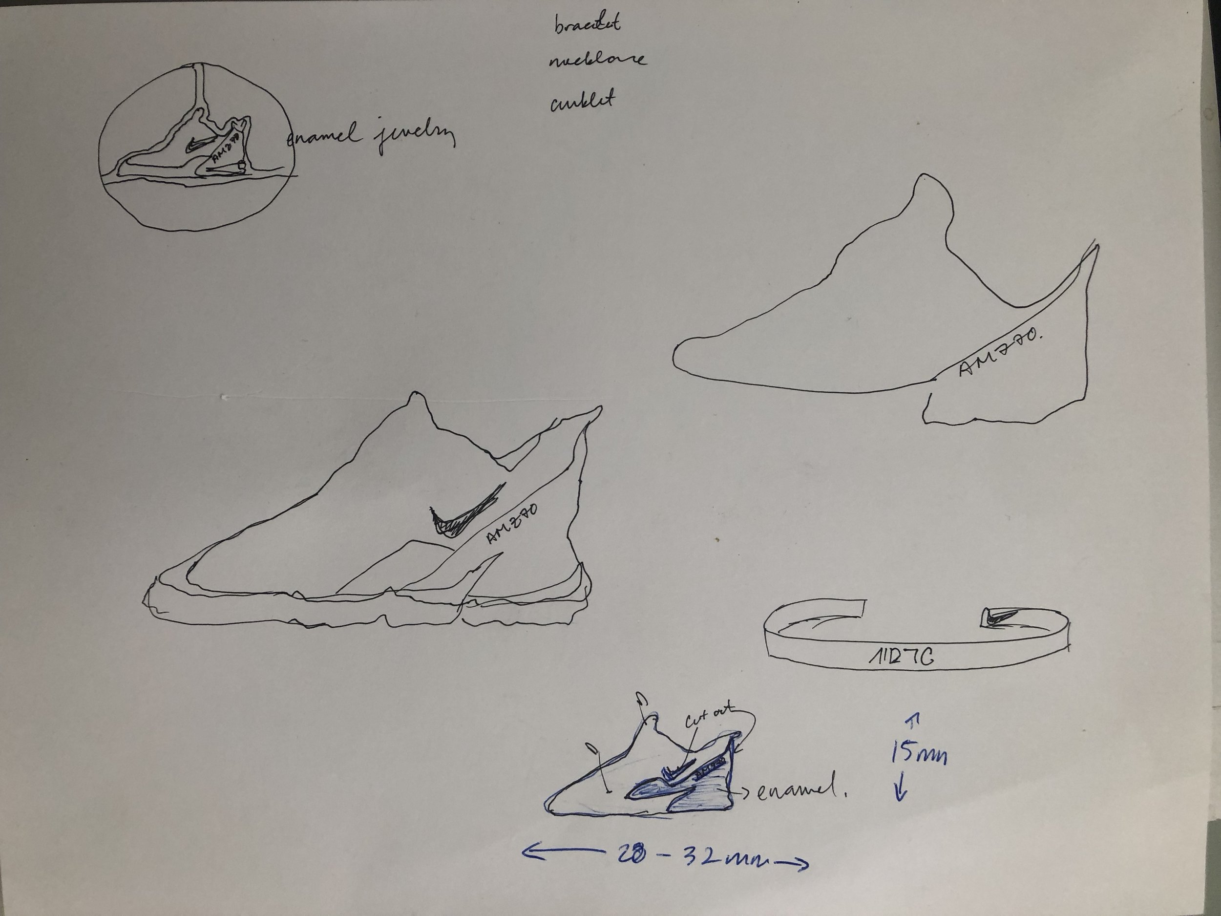 Here is an initial sketch I designed for them, playing with the outlines of the shoe, but with a flair of our original staple design work from Haati Chai.