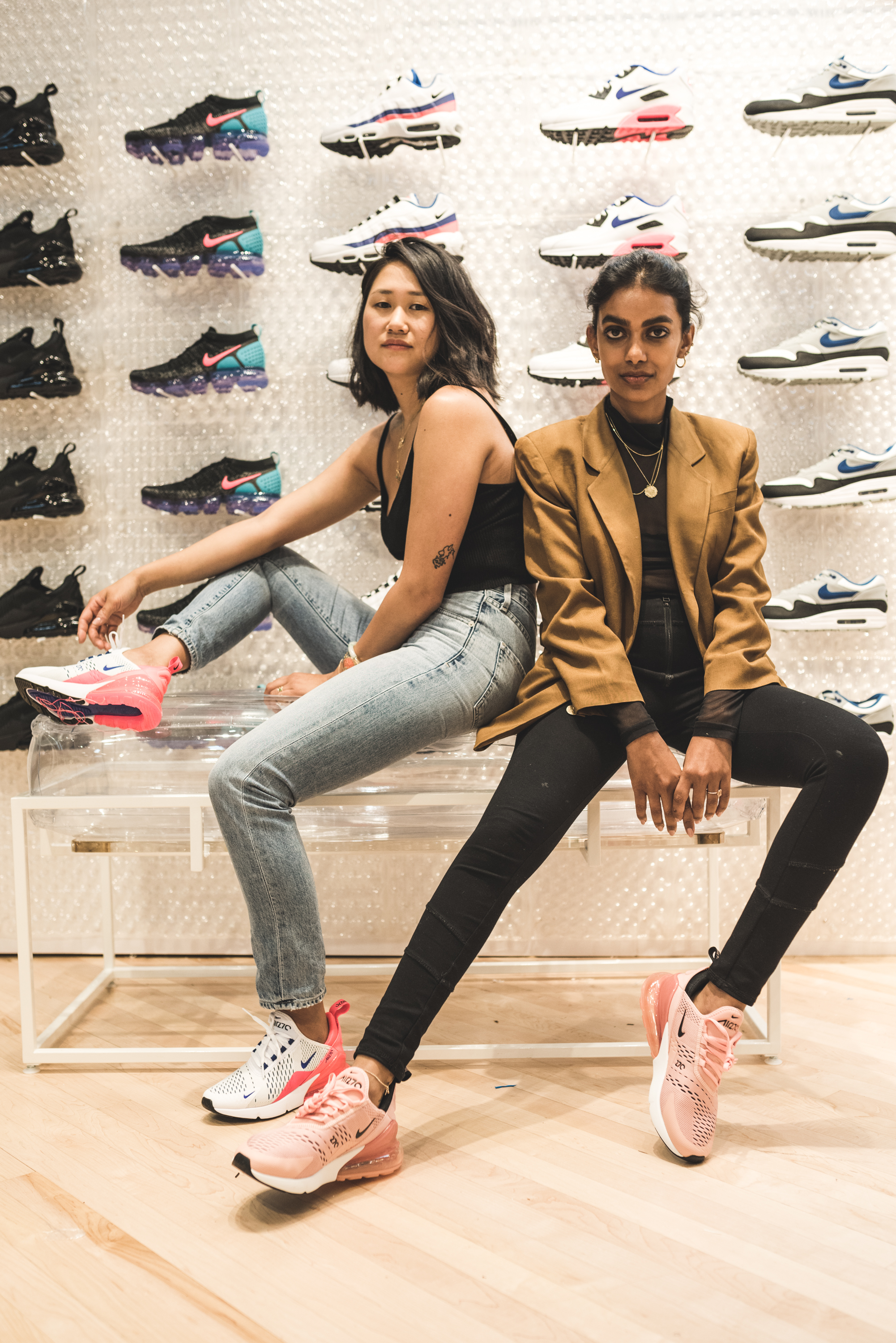 Stella and I taught a jewelry making workshop on Nike Air Day in our new  Air Max 270's.