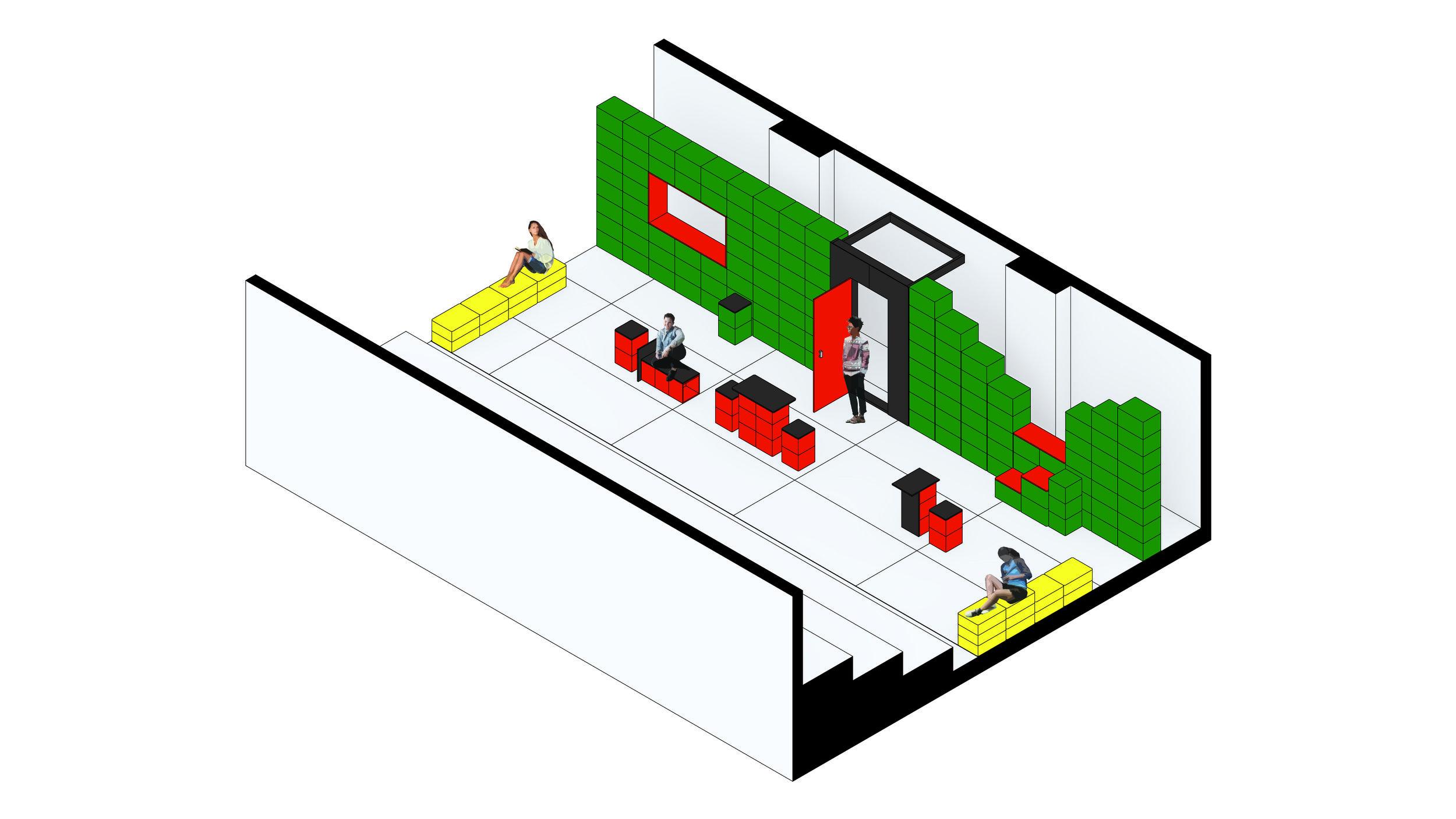 Schematic Design_ Axonometric Drawing