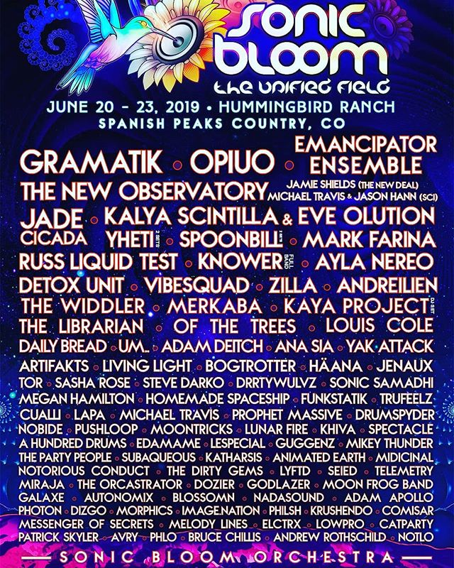 I HAVE 1 G.A. WEEKEND PASS TO SONIC BLOOM LEFT FOR $150 💙