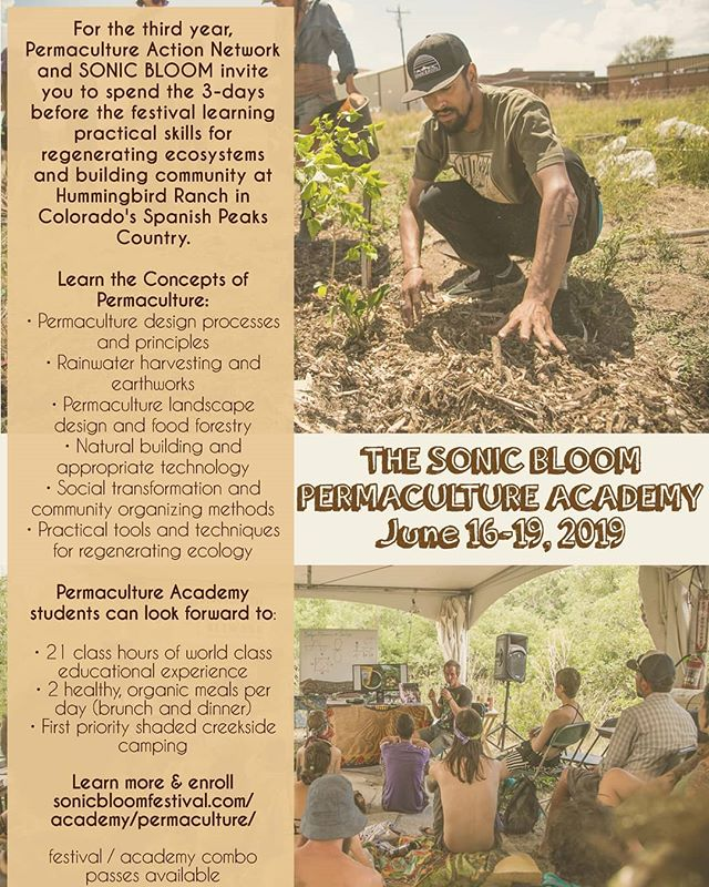 Join Ryan Rising and team from the Permaculture Action Network for this immersive educational experience at Hummingbird Ranch in the 3-days before #SONICBLOOM! @PermacultureAction (link in @SONIC_BLOOM_ profile) #permaculture #permacultureaction #premaculturecourse #hummingbirdranch