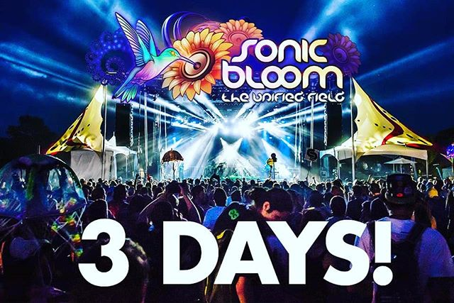 Only 3 more days until SONIC BLOOM!  Four nights of bass music under the stars with two nights stretching all the way past sunrise... Who will we see there? Check-out the official facebook event to see who is going and invite those who should! (link in @SONIC_BLOOM_ profile) . . #SONICBLOOM #HummingbirdRanch #SummerSolstice #SunriseSets #InternationalLineup #CreeksideCamping #FourNights #ColoradoFestival #InternationalYogaDay #ScienceWorkshops #OrganicFood #Permaculture #Workshops #LivePainters #KidsZone #Muralists #VirtualReality #ElectronicMusic #LiveMusic #Slacklines #ShadedTreeCamping #FreeWater #WellnessWorkshops #ArtGallery