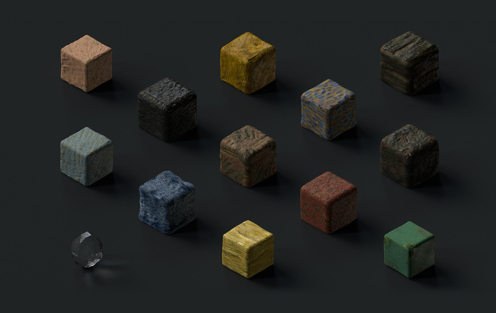 Van Gogh Texture Cubes