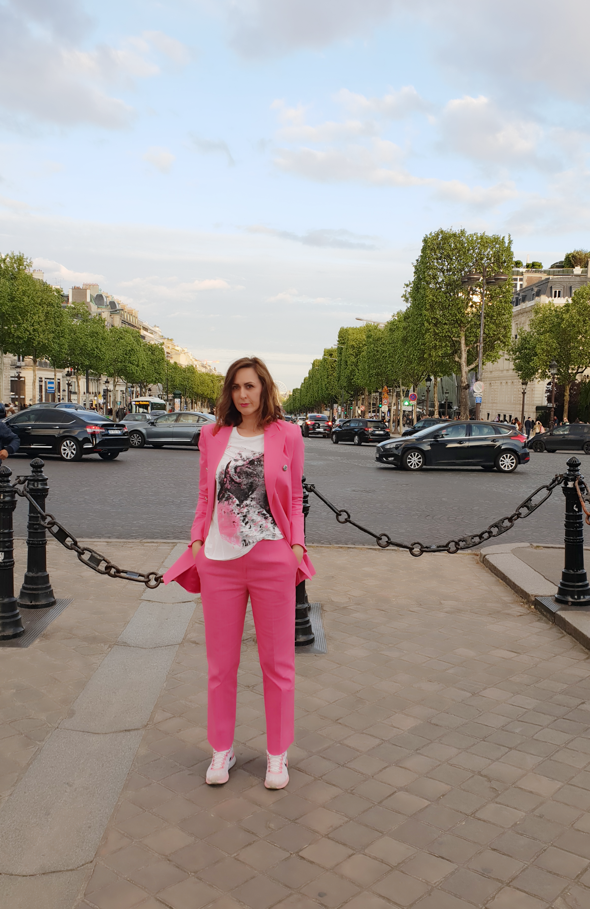 Maion pink, denim suit SS 2018 and hand painted T-shirt