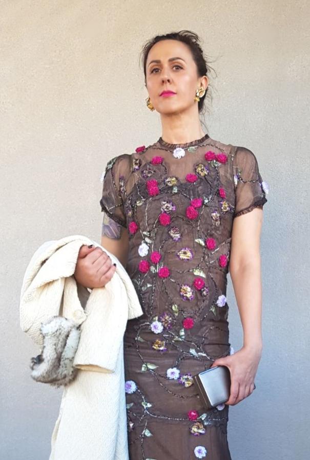 Maion silk muslin dress