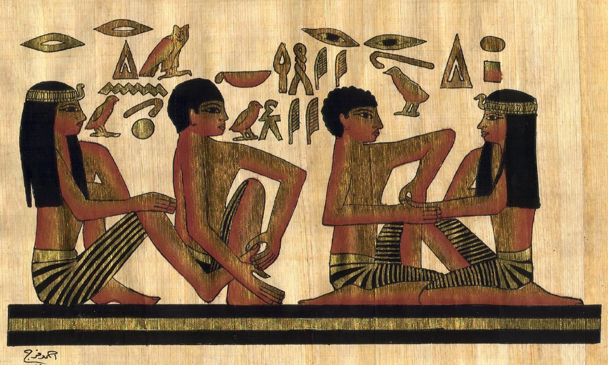 Image depicting foot and hand treatments in ancient Egypt.