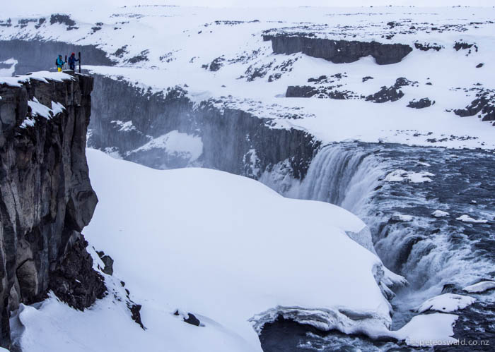 Soph and will look down on Dettifoss, Europe's most powerful waterfall