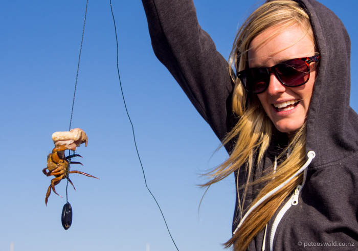 Crabbing, a popular hobby on the Island