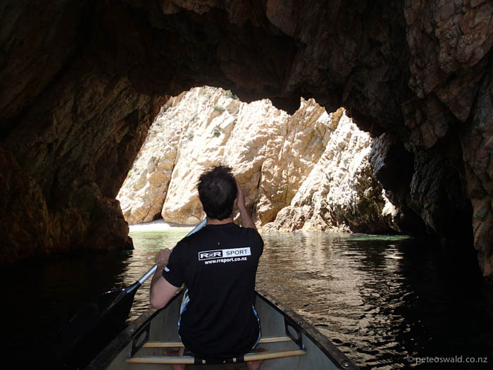 Canoeing through a tunnel. Photo: Will Oswald