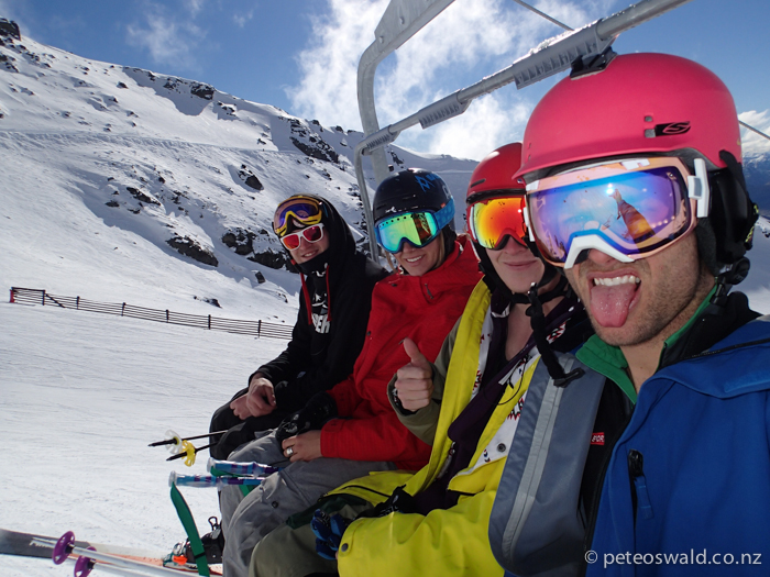 A great ski crew – Charlie Lyons, Taylor Rapley, Matt Soundy and myself