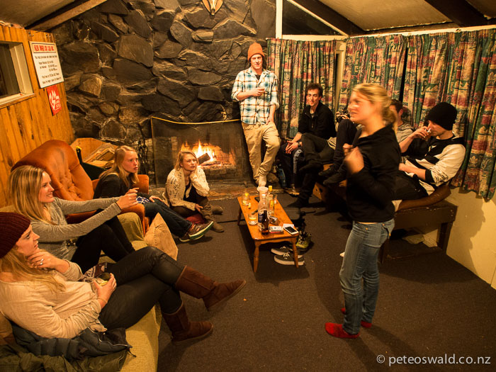 Charades and stiff drinks on the Friday night at our little lodge on the lake