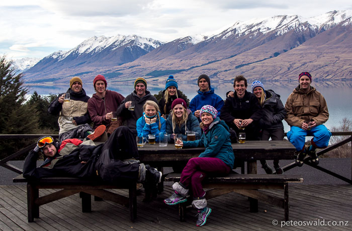 The crew (from left) – Chris Walker, Tim Reid, Stu Phillips, Brodie Palmer, Maria Uhlmann, Sophie Stevens, Sarah Ogilvie, Pete Oswald, Libby Woodard, Eliot Grover, Meg Shine and James Cardies Clark