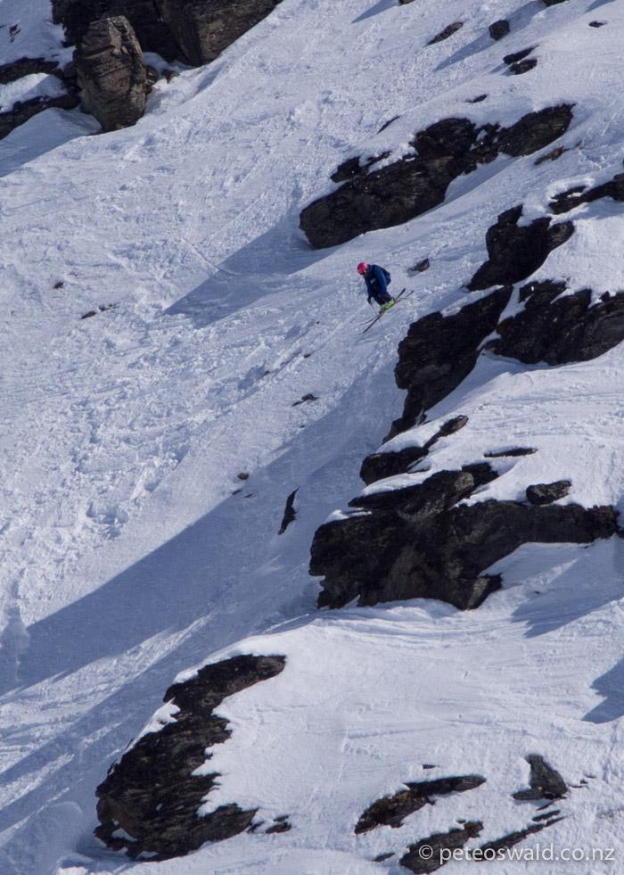 Me, mid air on my top cliff. Photo: Tom Brownlee