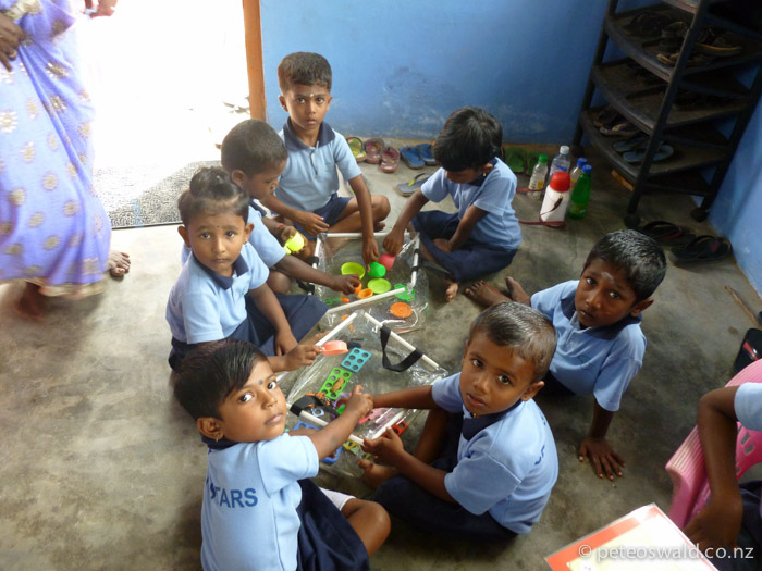Students playing at the school
