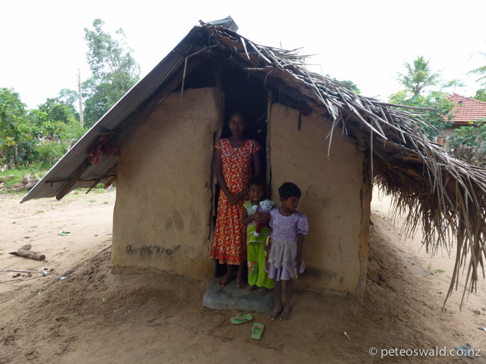 Some of the typical family shacks in Sri Lanka