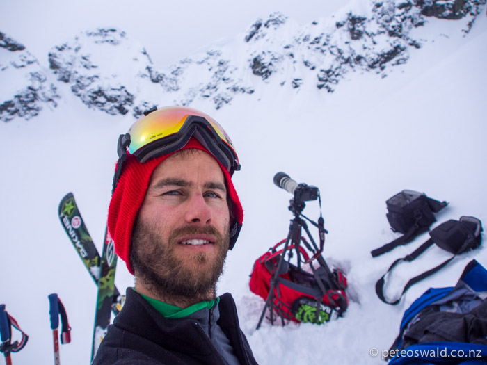 Myself on location filming in the Tantalus Mountain Range, BC, Canada