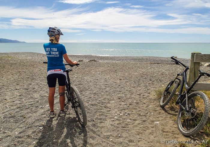A 60km training ride we did today to the ocean at Rarangi, Marlborough