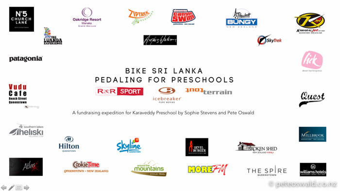 The generous businesses who helped us raise the funds.