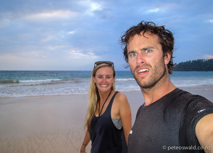 On the Beach in Mirissa ready for New Year's Eve!