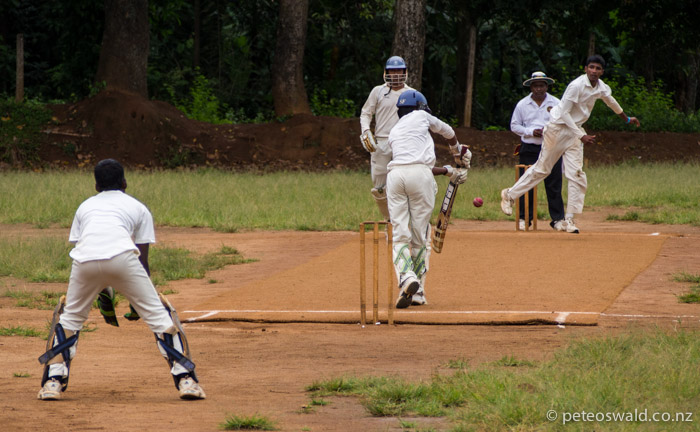 A game of high school cricket in Matale between a school in Kandy and the high school in Matale, had interesting chats with the students and teachers