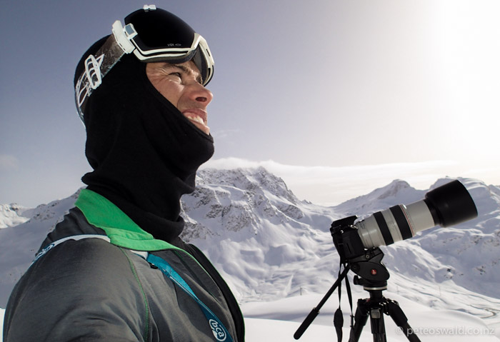 Me filming for the new movie in Engadin, Switzerland