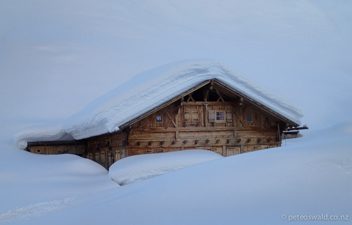 South Tirol got masses of snow this season, This barn/house in Ridnauntal Valley, Italy had its whole ground floor buried!