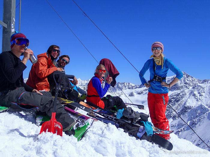 The crew on the last day L-R: Lukas Zoegernitz, Neil Williman, Sebasti Fischer, Tove Kockum & Mariella Eisenhauer