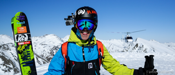 Heli skiing photo shoot with  Southern Lakes Heliski for  Snow Action magazine and  PowderGuide.com . Photo: Dan Power