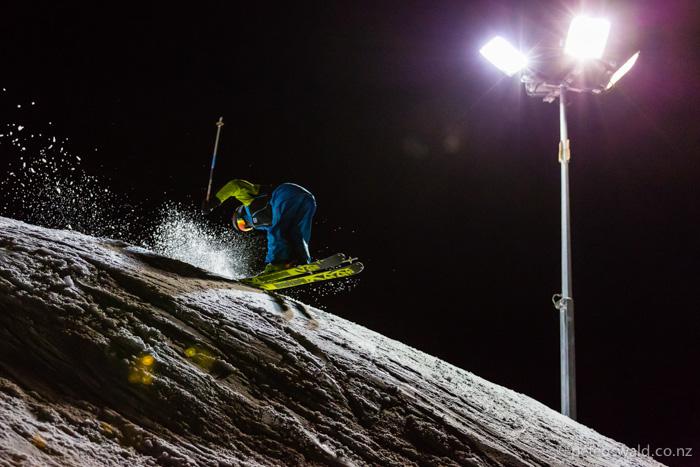 Nose butter 3 at  Coronet Peak's night ski. Photo: Dan Power