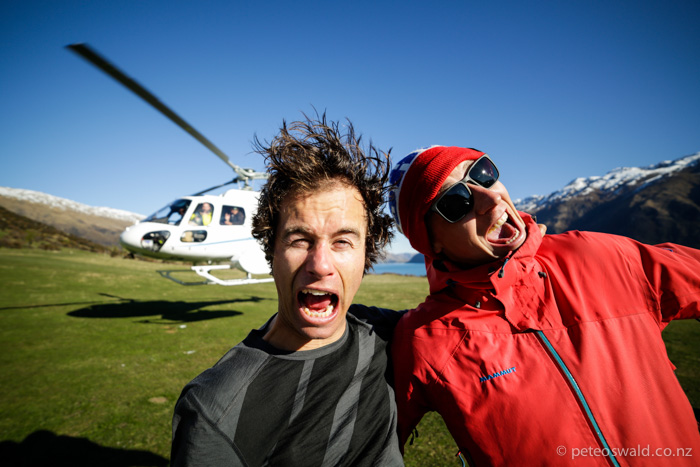 Lukas and I pumped at the end of a great day! Photo: Dan Power